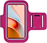 Xiaomi Redmi Note 9 Pro 5G Brazalete Case - para correr, ciclismo, senderismo, canoa, caminar, equitación y otros deportes para Xiaomi Redmi Note 9 Pro 5G (PINK)