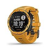 Garmin Instinct - Reloj resistente con GPS, Amarillo Ocre