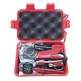 Cutogain - 1kit d'urgence pour voiture, camping, tremblement de terre - Kit de survie avec boîte