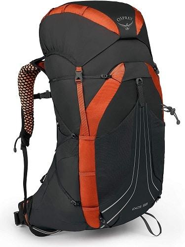 Mochilas para mochileros Osprey Serie Exos - mochila 60 litros